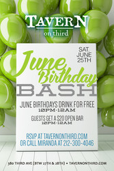 June Birthday Bash Event in New York,  NY